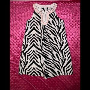 Girl's Gymboree Zebra Print A-Line Dress Size 7